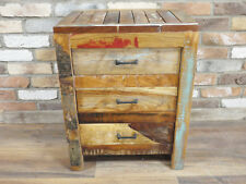 Vintage Rustic Solid Wood Storage Cabinet Cupboard Sideboard Chest Of Drawers F