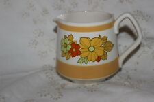 Sadler Milk Creamer Jug Yellow Red Flowers
