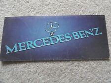 Vintage Mercedes Benz Sales Brochure