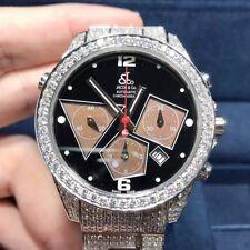 New Jacob&Co Two Time Zones ACM7DC 40mm Steel Diamonds Automatic Men's Watch
