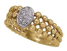 14k Gold Ring with 0.10ctw Diamonds. Size 6.1/2 (R619)