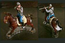 Papo Confederate Civil War Cowboy Cavalry Rifleman & Horse 2pc lot NWT Sandtray