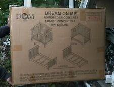 Dream On Me 4 in 1 Convertible Mini Baby Nursery Furniture Crib Day Bed White.