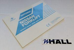 Nissan forklift Operator's Manual - Battery Model Series