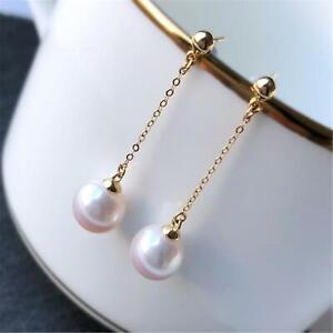 16MM white Sea Shell pearl earrings 18k ear hook swing Irregular Accessories