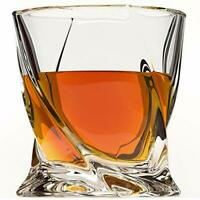 Whiskey Glass 4Pack Premium Lead Free Crystal Glasses Twist Tasting Tumblers