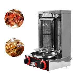 LPG Gas Electric Shawarma Grill Machine Rotary Barbeque Tacos Doner Kebab Maker