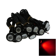 10x Red Motor Eagle Eye DRL Backup Lamp Rearview Mirror Light 23MM 1 COB LED O50