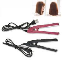 Top Quality Mini Tourmaline Ceramic Hair Curl Straightener Flat Iron Perm Splint