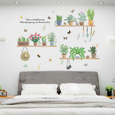 Funny Flower Plant Bonsai Butterfly Removable Wall Sticker DIY Decal Decor Worth