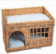 Woven 2 Floor Indoor Cat House Den.  Complete With Two & Cushions