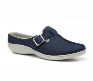 HOTTER AFFECTION 4 UK /37 MULE STYLE SLIPPERS SLIDERS NAVY BRAND NEW RRP £49