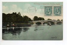 CANADA carte postale ancienne TORONTO  3 the bridge at island park