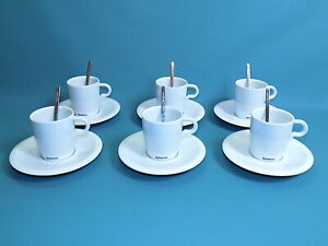 Nespresso Professional Espresso Cups & Saucers x 6 with Spoons