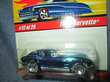 2014 Hot Wheels  Classics 1963 chevy CORVETTE blue chrome finish  12 / 25