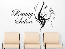 Wall Decals Beauty Salon Model Girl Face Decal Vinyl Sticker Beauty Salon MS642
