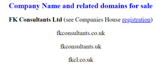4 letter domain name - fkcl.co.uk, associated domains and company registration