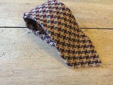 Jaeger Pure Wool Necktie Tie Men's Burgundy Blue Weave Woven In Scotland