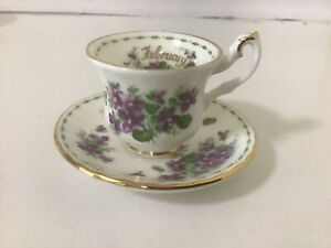 Royal Albert Duo  From Flower Of The Month Series FEBRUARY - VIOLETS ,Never Used