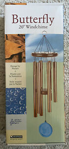 Hayes Design By Nature Butterfly Wind chime 20 Inch Long