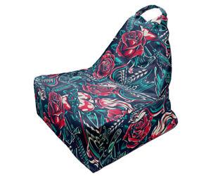 Bean Bag Chair | Tattoo Style Print | Unique Design | Full Print | Made in EU