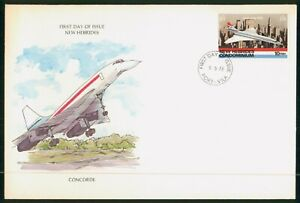Mayfairstamps New Hebrides Condominium FDC 1978 Concorde Airplane First Day Cove
