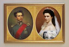 Königin Sisi & König Ludwig II. - Portrait um 1865 Faksimile 11 im Goldrahmen