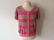 Striped Crew Neck Short Sleeve Thin Women's Jumpers & Cardigans