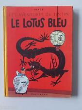 Tintin - le lotus bleu - 4 ème plat B6 - 1952 - SUPERBE ETAT