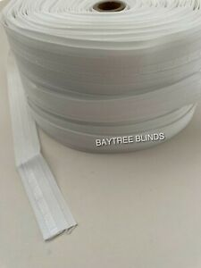 10 X METRES ROMAN BLIND TAPE 18mm - WHITE - TOP QUALITY 100% POLYESTER