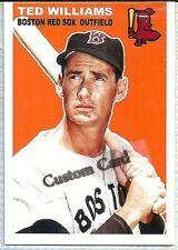 TED WILLIAMS BOSTON RED SOX 1954 STYLE CUSTOM MADE BASEBALL CARD BLANK BACK