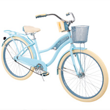 "Huffy 26"" Nel Lusso Women's Classic Cruiser Bike w/ Perfect Fit Frame Light Blue"