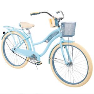 "Huffy 26"" Nel Lusso Women's Classic Cruiser Bike w/ Perfect Fit Frame Light Blue"