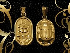 Fascinating Hallmark 18 K. Gold charm pendant Egypt Pharao's Luck Scarab 1.88 G.