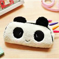 Cute Soft Plush Panda Pencil Case Pen Pocket Cosmetic Makeup Storage Pouch Bag