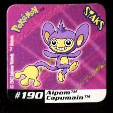 Ω STAKS MAGNET AIMANT POKEMON (Used) N° 190 AIPOM CAPUMAIN