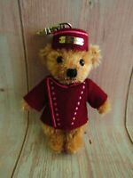 Merrythought Teddy Bear Keychain Hill & Friends Bellboy Mohair Teddy 4""