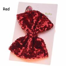Baby Girl Kids Sequin Bowknot Bow Hair Clip Hair Bow Clips Hair Pins Xmas Gift