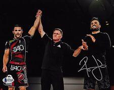 Ralek Gracie Signed 8x10 Photo BAS Beckett COA Metamoris Jiu-Jitsu w/ Gary Tonan