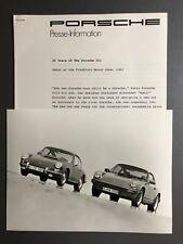 "20 Yrs of the Porsche 911 Press Release & Photo Factory Issued ""Werkfoto"" RARE!!"
