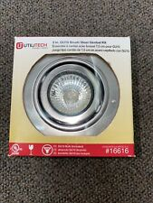 3 inch Brushed Steel Gimbal Remodel LED Recessed Light Kit ***New in Box