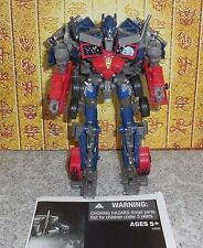 Transformers Dotm OPTIMUS PRIME Complete Dark of The Moon Voyager w manual