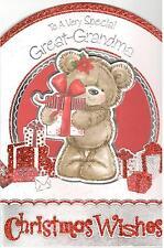 Bisnonna cartolina di Natale. per un molto speciale bisnonna 3D scheda di Teddy.