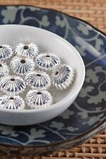 Corrugated Silver-Plated Fancy Beads 8mm x 12mm Lot of 10 Pieces Melon Spacers