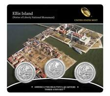 2017 P D & Proof S US Mint America The Beautiful Ellis Island 3 Coin Set Auction