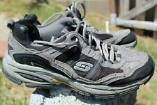 Sketcher sneakers shoes men size 10.5, 11 black gray Athletic running LEATHER 65