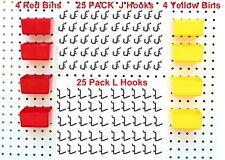 Jsp Peg Hook Kit Plastic Bin & Locking Pegboard Hooks 58 Piece Black Small Bins