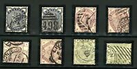 GB QV 1883/4 range issues wmk IC sg187, 188, 189, 191, 192 and 194 cv£800 Stamps
