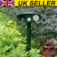 UK Repellent Solar Cat Repeller Scarer Dual Ultra Deterrent Garden Animal Chaser