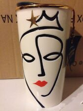 Starbucks Anniversary Crown Siren Mermaid Travel Mug Tumbler 2015 10 oz New